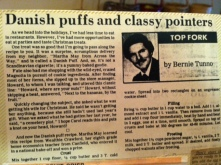 The Danish Pastry puff recipe in my brother, Bernie's food column from the 80's.