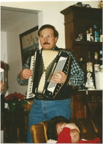 Bernie playing accordion