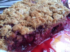 This blackberry pie with peanut butter crumble is so good, you may die of happiness. Just warning you.