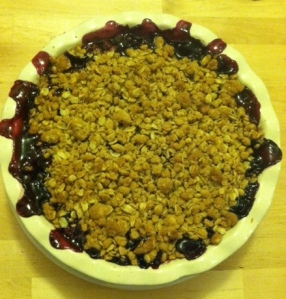 cropped blackberry pie