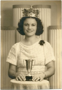 Mom, the beauty queen in her younger days.