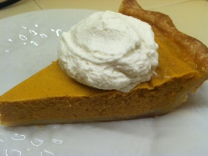 Always a contender pumpkin pie.