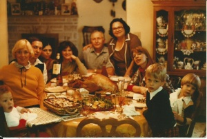 The Tunno Family at Thanksgiving circa 1980 (I think).