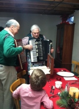 Bernie and Bob playing Christmas Eve favorites, including the Tarantella.