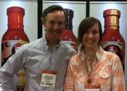 Nicholas Coe and his designer daughter.