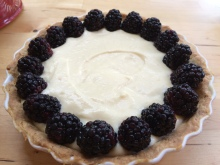 Creating the tart -- start on the outside.