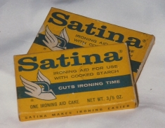 I found these in my mom's house years ago.  I'm sure she bought it because it said it cut ironing time -- yeah right.