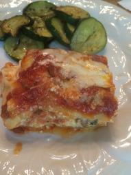 Yummy lasagne close up