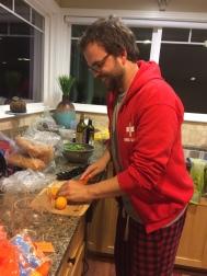 Brandon making drinks